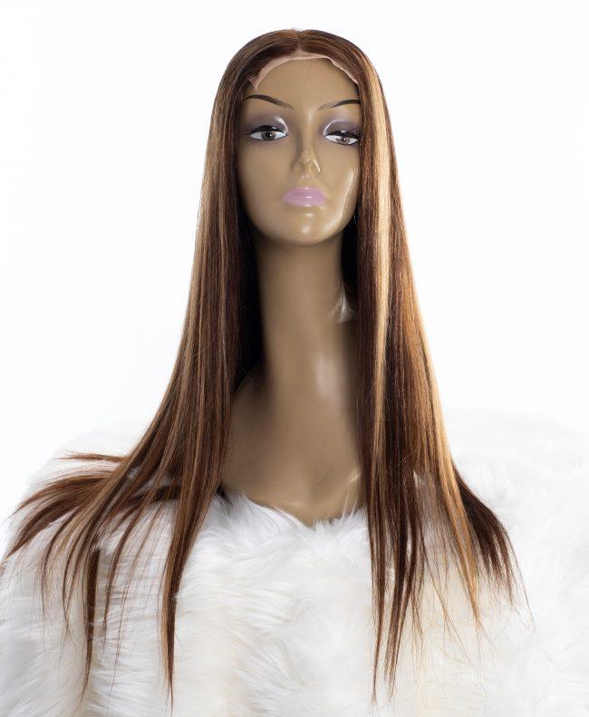 Piano Streaked Premium Straight Lace Wig